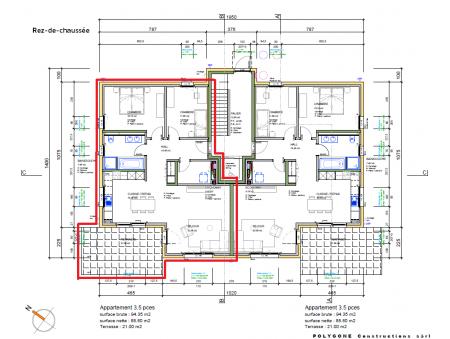 VILLARS-LE-GRAND (VD) | 3.5 pièces | Rez Nord-Ouest | Nouvelle construction